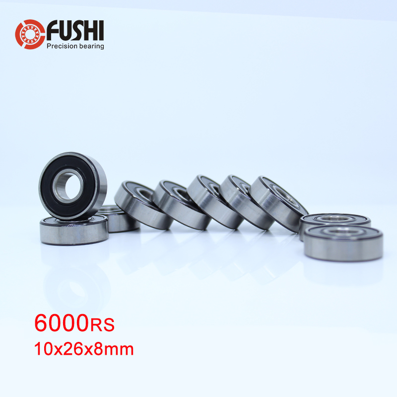 6000-2RS Rulman ABEC-5 (10 PCS) 10x26x8mm Derin Oluk 6000 2RS Rulmanlar 6000RS 180100 RS