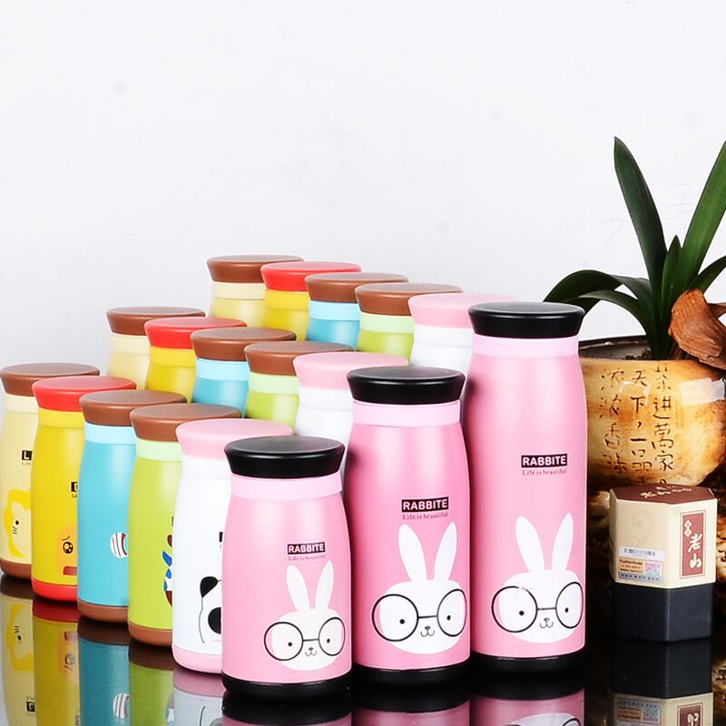 New Arrival Cartoon Thermos Cup Bottle Stainless Steel Thermocup Vacuum Thermal Mug 260ml/350ml/500ML Funny Gift