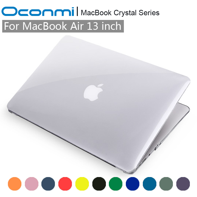 Kristal Şeffaf Şeffaf sert çanta Apple Macbook Air 13 için kapak Macbook Air 13.3 inç laptop Macbook çantası Hava 13 durumda